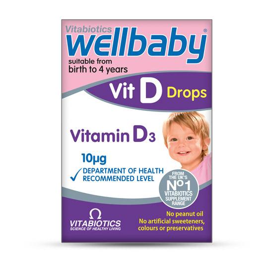 Wellbaby Vitamin D3 kapi